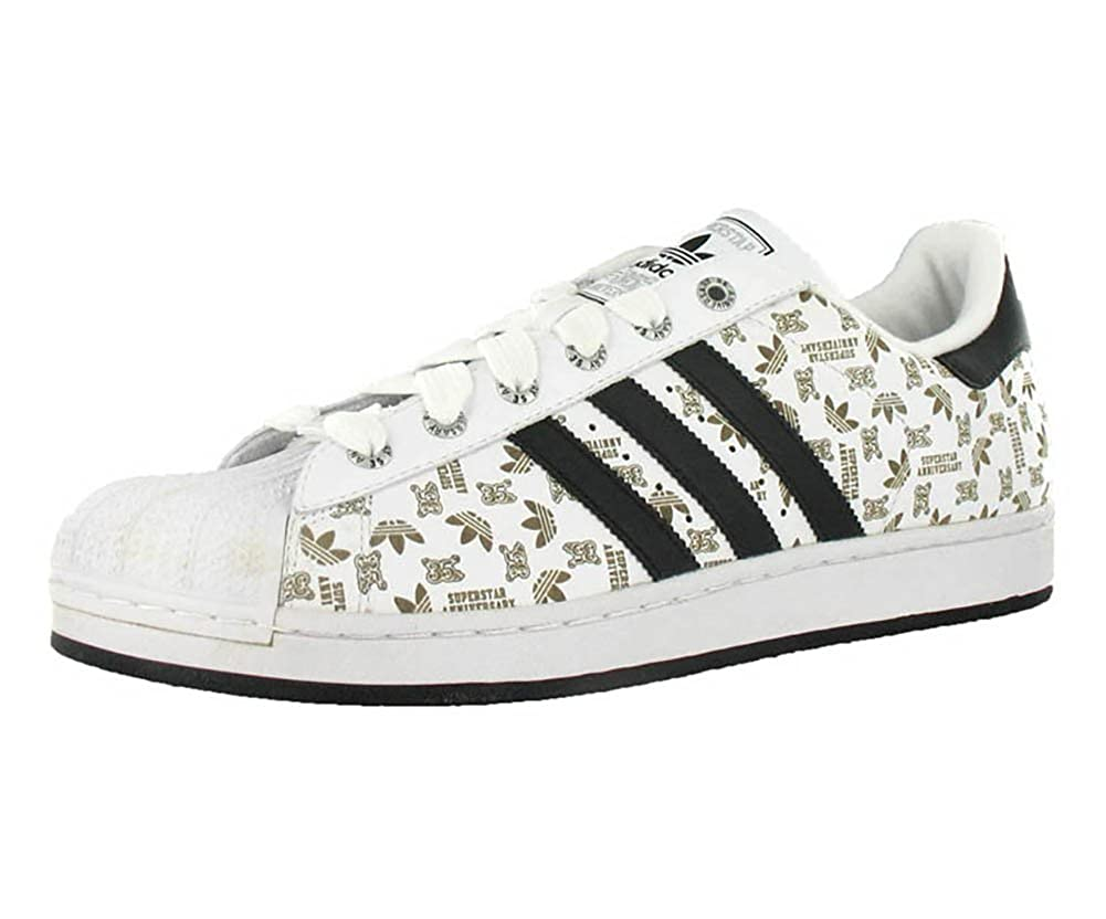 reputable site d3fde ca518 adidas Men S Superstar 35Th Anniversary Series Etched White Casual Shoe  Black, White (14)  Amazon.co.uk  Shoes   Bags