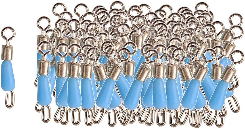 100 x Edelstahl Angelwirbel Rollwirbel Angeln Wirbel mit Gummischlauch