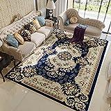 HOMEE European Carpet/Living Room Sofa Bedroom Bed Full Floor Carpet/American Washable Carpet,B,133X190Cm(52X75Inch)