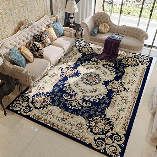 HOMEE European Carpet/Living Room Sofa Bedroom Bed Full Floor Carpet/American Washable Carpet,B,133X190Cm(52X75Inch) by HOMEE
