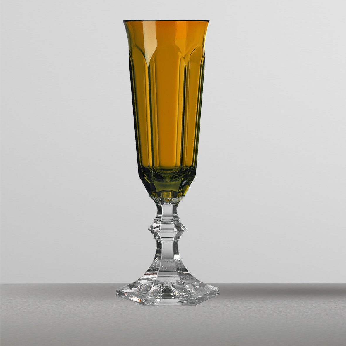 Marioluca Giusti Set 6 Bicchiere Dolce Vita Flute Ambra