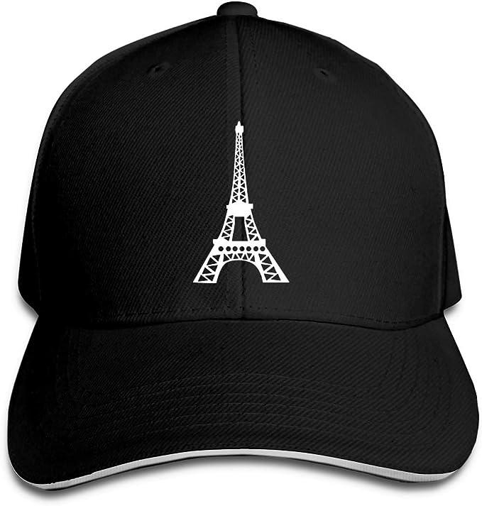 angwenkuanku Gorra de béisbol Unisex París Francia Torre Eiffel ...