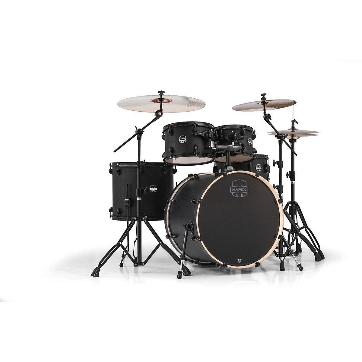 MAPEX MA529SFBZW Mars Series 5 Piece Rock Drum Shell Pack, Zebrawood