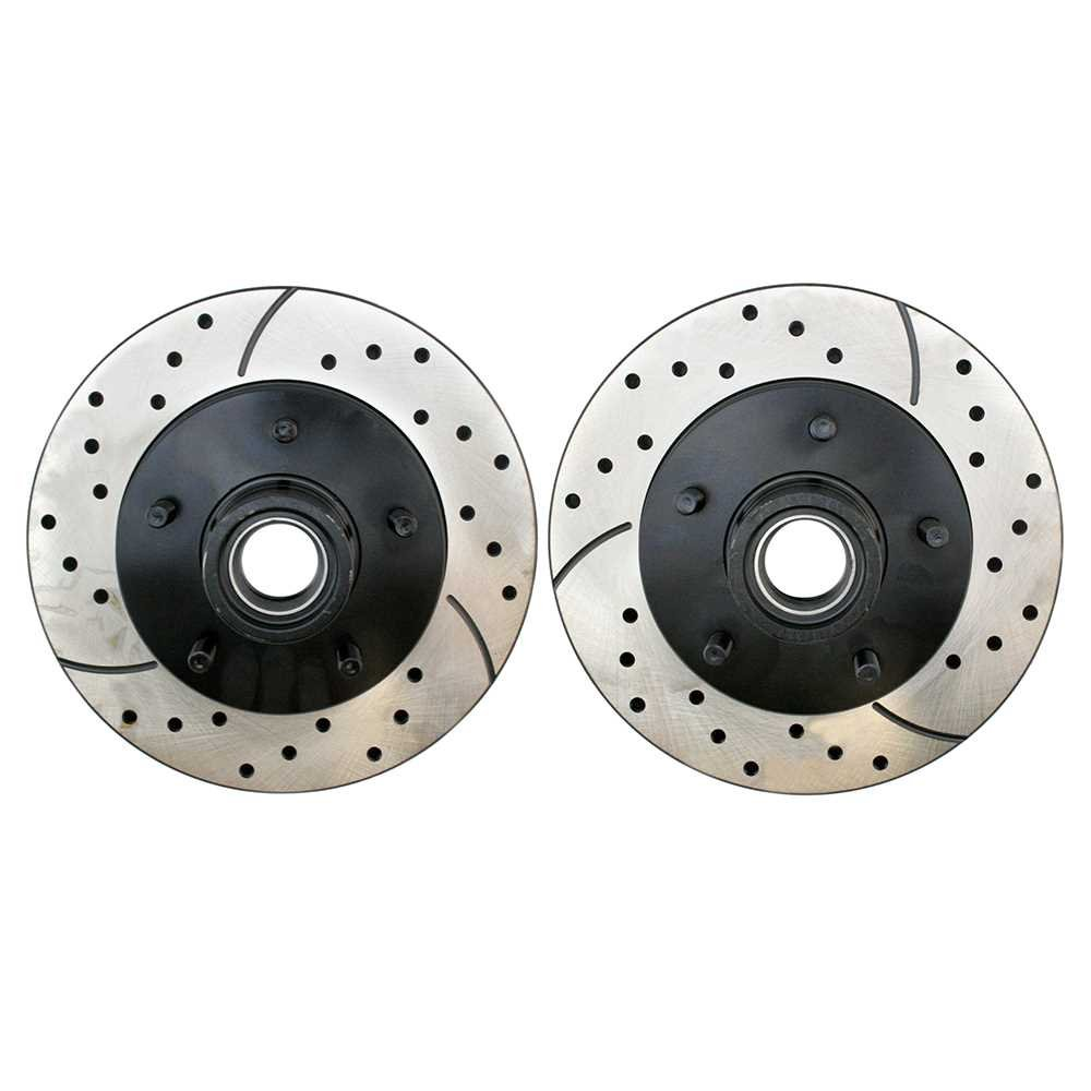 Prime Choice Auto Parts PR41256LR Drilled and Slotted Performance Rotor Pair for Front