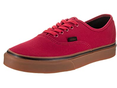 d45673117fc0 Vans Authentic (Gum) Racing Red Black Mens 11.5