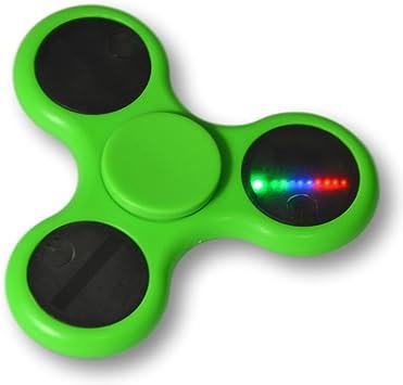 Tumi ShenZhen Fidget spinner LED con varios efectos de luz. Varios colores (Verde): Amazon.es: Juguetes y juegos