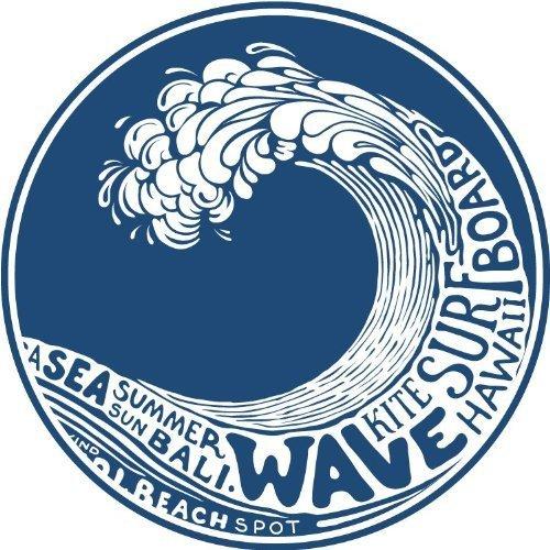 """Wave Kite Surfing Hawaii Bumper Sticker 5"""" x 5"""""""