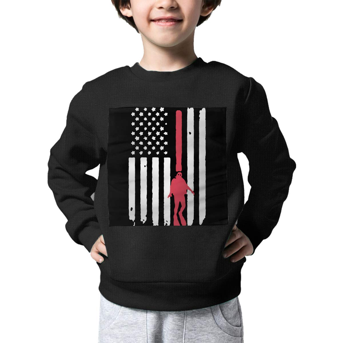 NJKM5MJ Boys Girls American Flag Scuba Diving Lovely Sweaters Soft Warm Kids Sweater