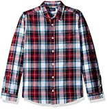 The Children's Place Big Boys' Red Plaid Shirt, Classicred, XS (4)