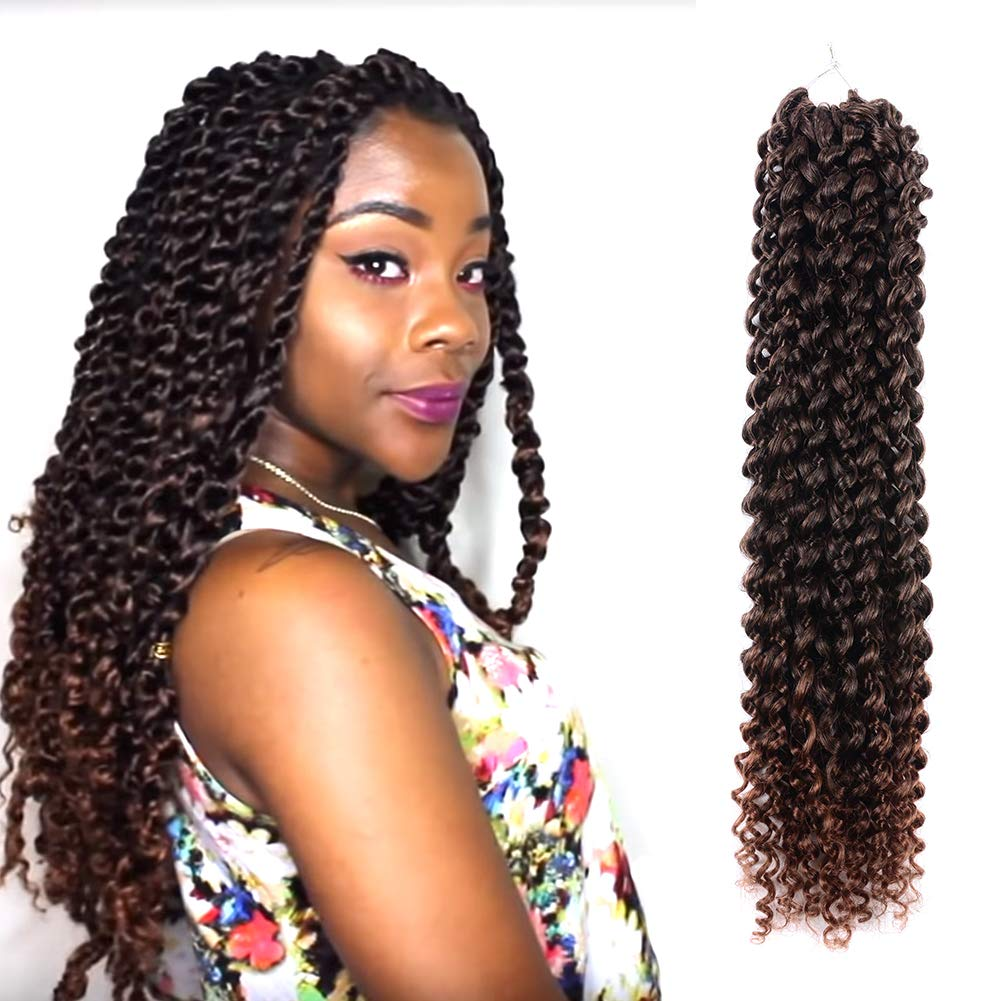 Amazoncom Passion Twist Hair Ombre Brown 18 Inch 6 Packs Water