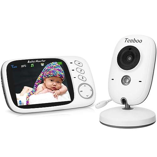 Vigilabebés Inalambrico Bebé Monitor con cámara 3 2 LCD visión nocturna sensor de temperatura NANAS