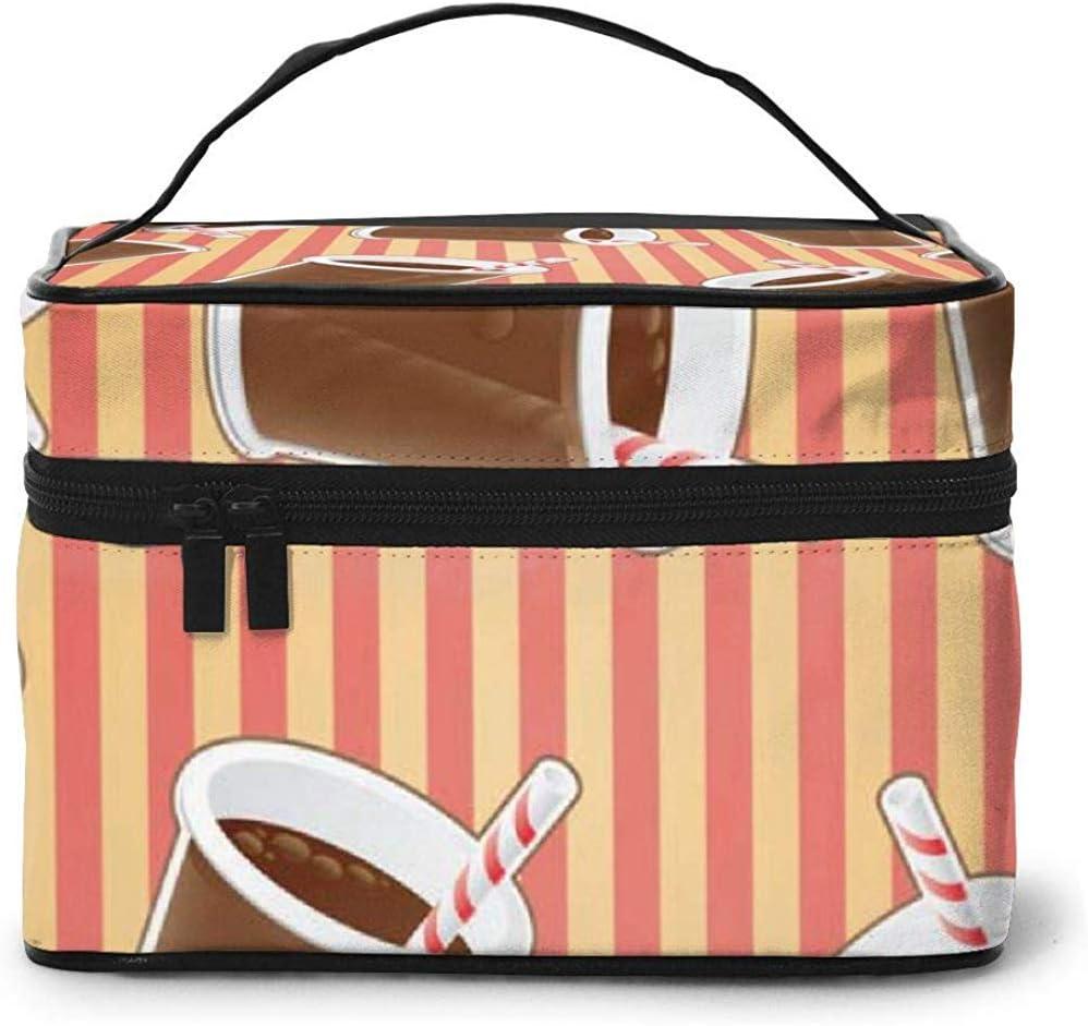 Copa Coca-Cola portátil para Mujer Estuche cosmético de Viaje Bolsa Almacenamiento Bolsa de Maquillaje Lavado multifunción Bolsa de Maquillaje de Gran Capacidad: Amazon.es: Equipaje