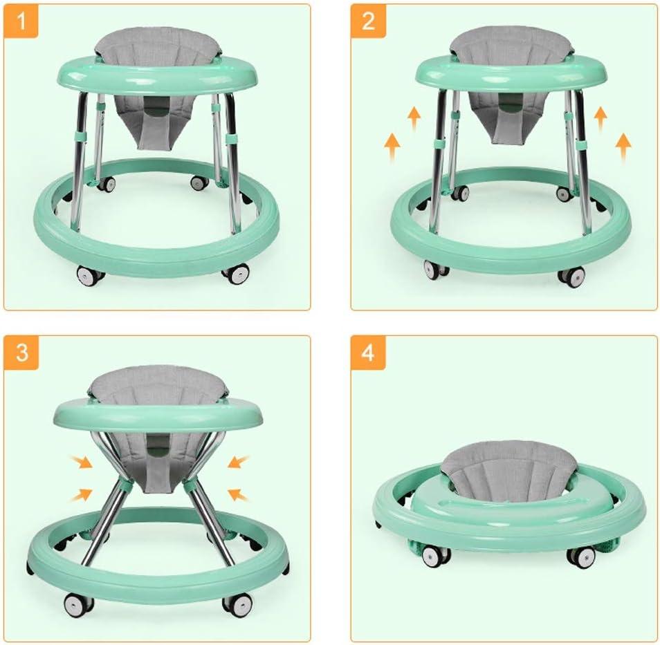 Colore : Verde Girello Camminatore per Bambini 6//7-18 Mesi Multifunzione antiribaltamento La Spinta a Mano pu/ò sedersi sul Walker FANJIANI