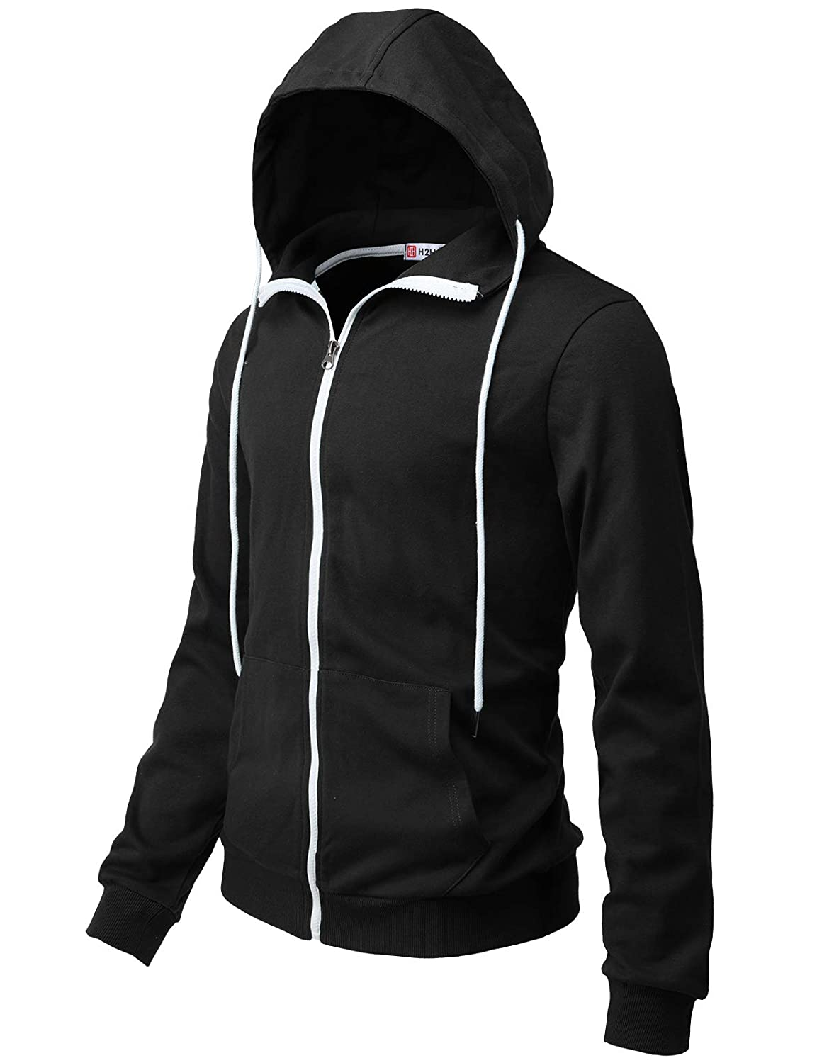 1204d15f0 H2H Mens Casual Zip-up Hoodie Double Cotton Lightweight Hooded at Amazon  Men's Clothing store: