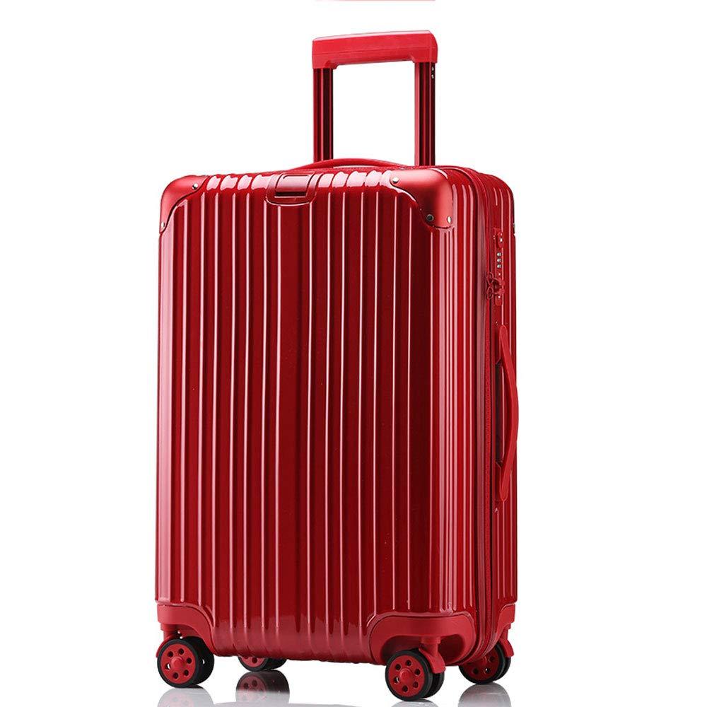 YD スーツケース トロリーケース - ABS/PC、TSA税関コードロック、高耐荷重ローラー、スタイリッシュな防水クリーニングが簡単防爆ジッパー万能ホイール学生ビジネススーツケース - 4色2サイズあり /& (色 : Red, サイズ さいず : 38*24*59cm) 38*24*59cm Red B07MX5KZ6F