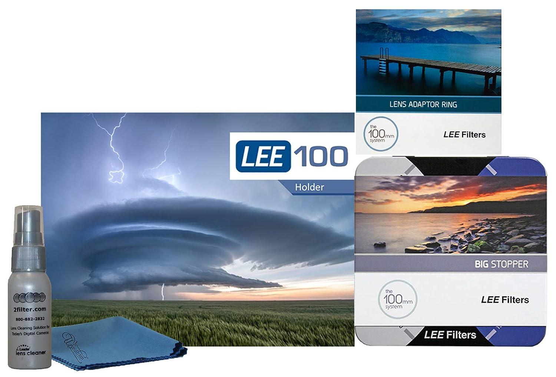 LEE Filters LEE100 77mm ビッグストッパーキット - LEE100ホルダー 100mm ビッグストッパー 77mm広角リング   B07PP9PY9H