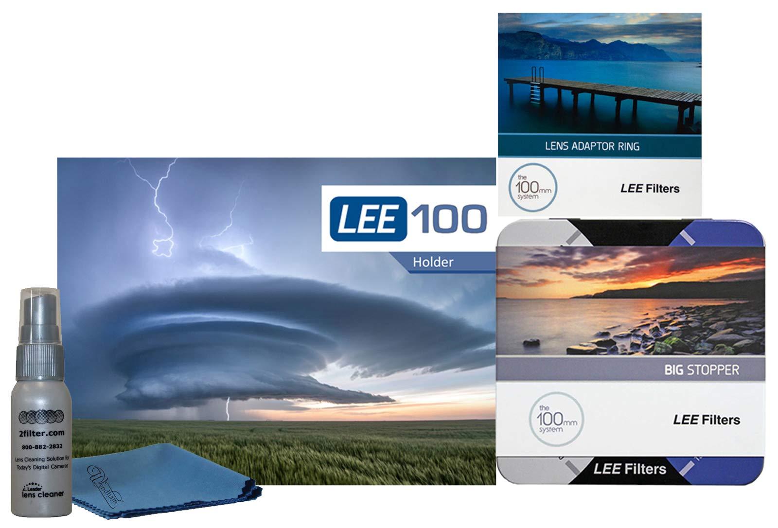 LEE Filters LEE100 77mm Big Stopper Kit - LEE100 Holder, 100mm Big Stopper, 77mm Wide Angle Ring