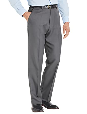 a42641c0465 Chums Mens HIGH-Rise Poly Twill Trouser Pants with Stretch Waist Grey 34W x  31L