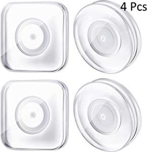 4 Pieces Nano Casual Paste Phone Holder Nano Magic Stickers Nano Gel Pad PU Material Reusable Traceless Magic Paste for Home, Car, Office Storage of Various Small Device and Items