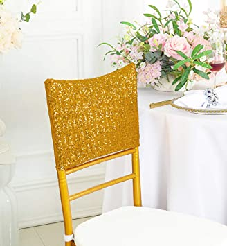 Incredible Wedding Linens Inc 5 Pcs Chiavari Chair Covers Caps Sequin Spandex Stretch Chair Cover Cap For Wedding Party Banquet Events Gold Ibusinesslaw Wood Chair Design Ideas Ibusinesslaworg