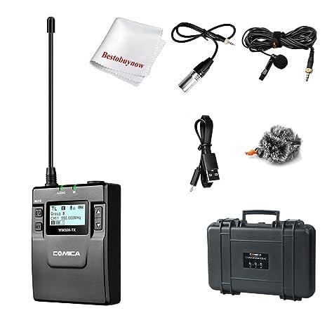 Comica cvm-wm300 (a/c) UHF 96-channels Metal con un transmisor de ...