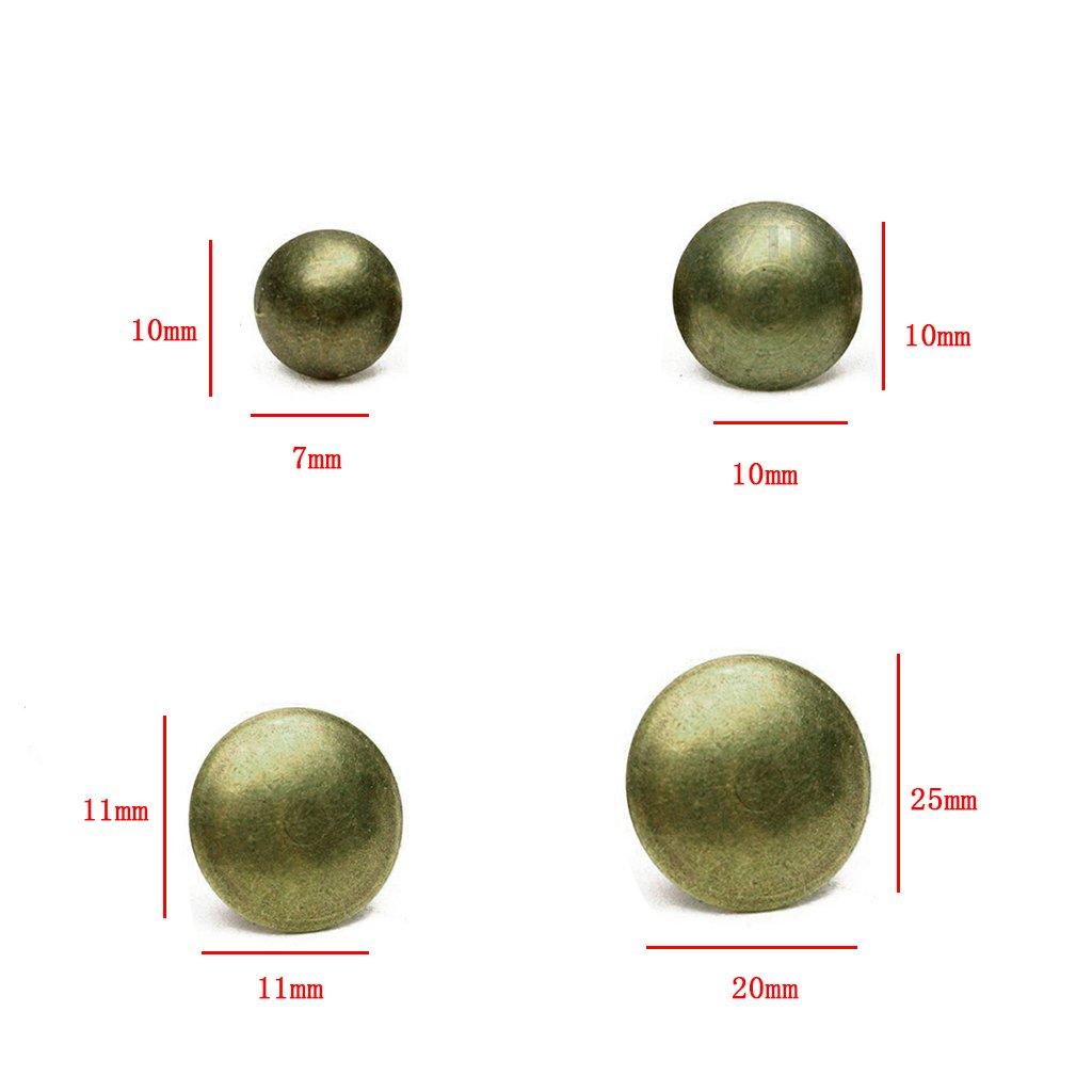 B Blesiya 100 Unids Muebles Push Pins Clavos Antiguos Decoraci/ón Muebles Broches Bronce Stud 20x25mm