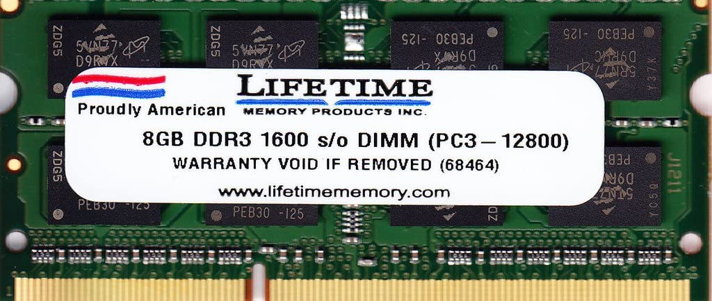 New! 8GB PC3-12800 204 PIN DDR3-1600 Memory for Lenovo IdeaPad U310 Laptop
