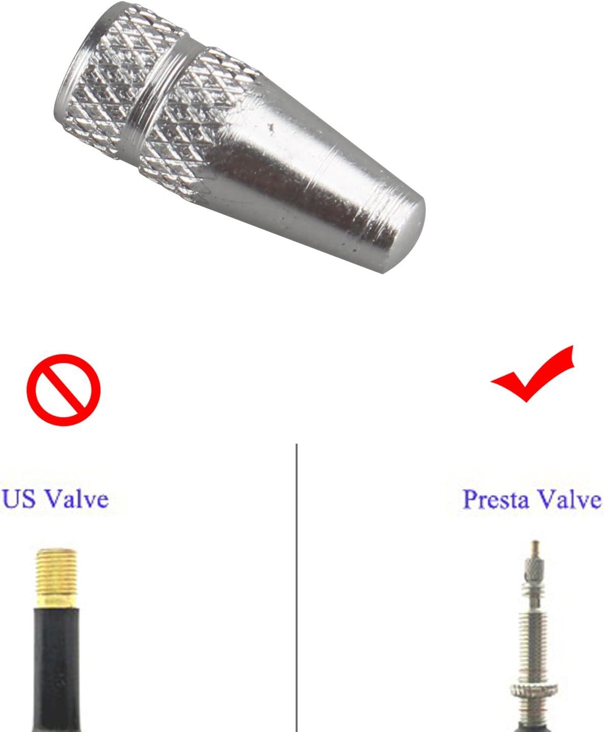 Fushengda 4/pcs Argent Roue de v/élo Jante Pneus Potence Air Valve Caps poussi/ère Coque en Aluminium /à Haute Pression de Pneu Bouchons de Valve pour v/élo Accessoires