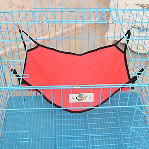 Michley Wild Time Kitty Pet Cat Hammock Bed for Cage, Red