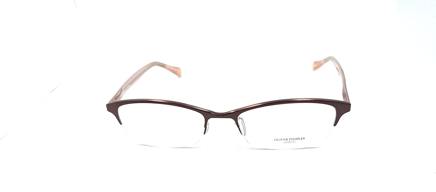 7cca14257a4 Amazon.com  Oliver Peoples Rx Eyeglasses Frames Maryse 1089T 5050 49X17  Brown Titanium Japan  Clothing