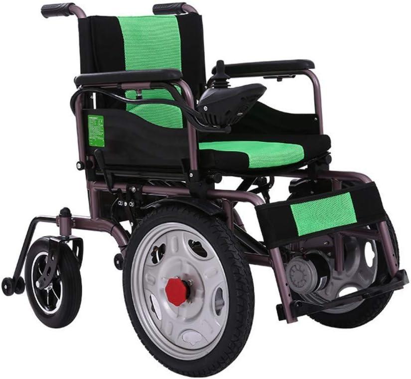 Y-L Sillas de Ruedas para Discapacitados de Edad Avanzada, Plegables Ligeras Modelo Estándar - Ayuda de Movilidad Personal - Silla de Ruedas Eléctrica Plegable Ligera