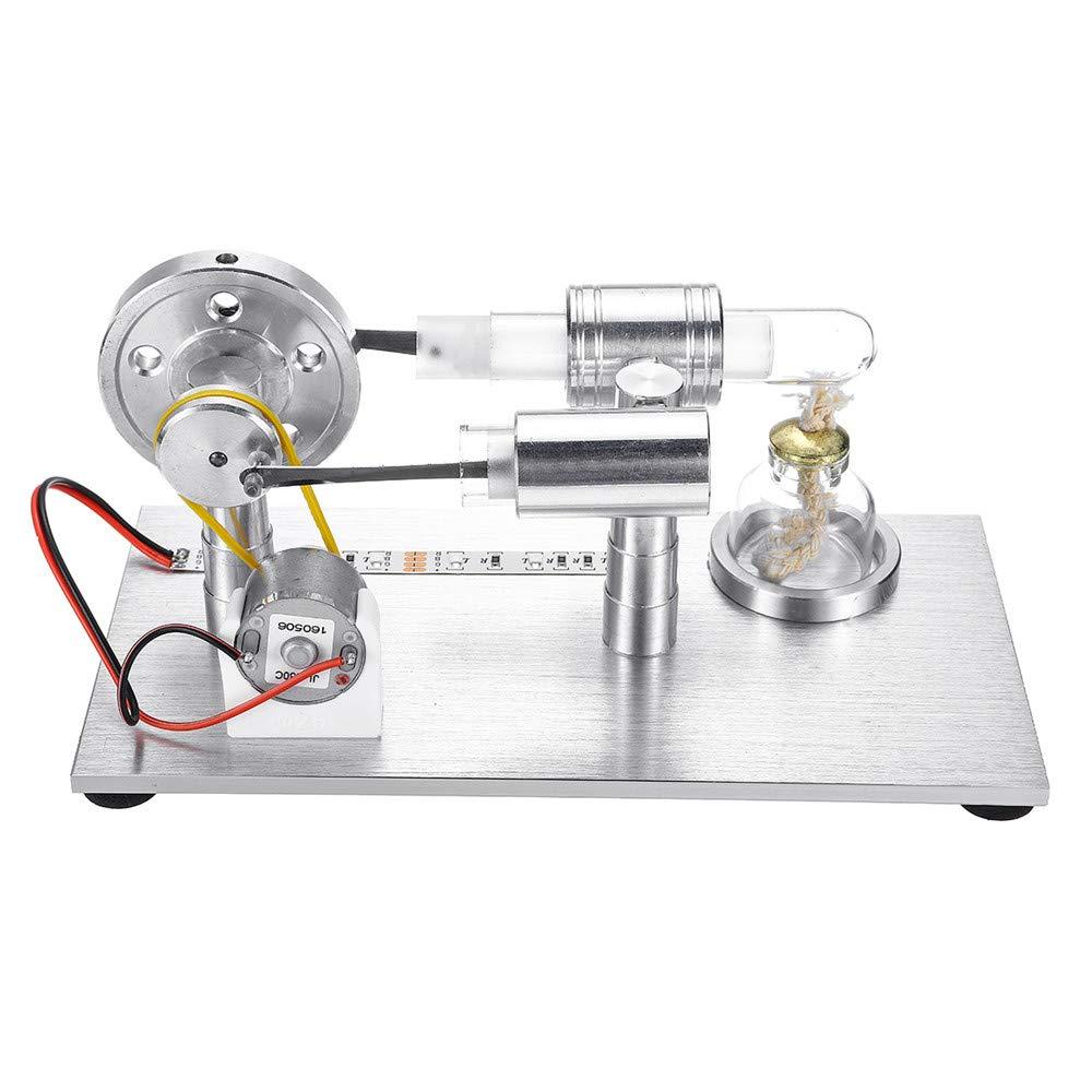 VIDOO Stirling Engine Modell Externe Verbrennungs Modell Spielzeug Mit LED-Licht