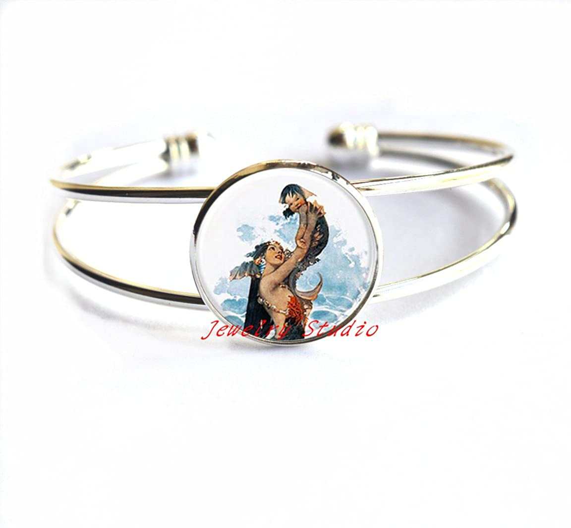 JewelryStudio Mother and Art Bracelets Gift for New Mother Shower Gift Gift for mom New -HZ00338