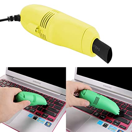 Limpieza Multifuncional con Cepillo y aspiradora Carga de USB Herramienta para Limpiar Teclado de Ordenador Mini Laptop Keyboard Cleaner Dust Brush Coche Aspirador
