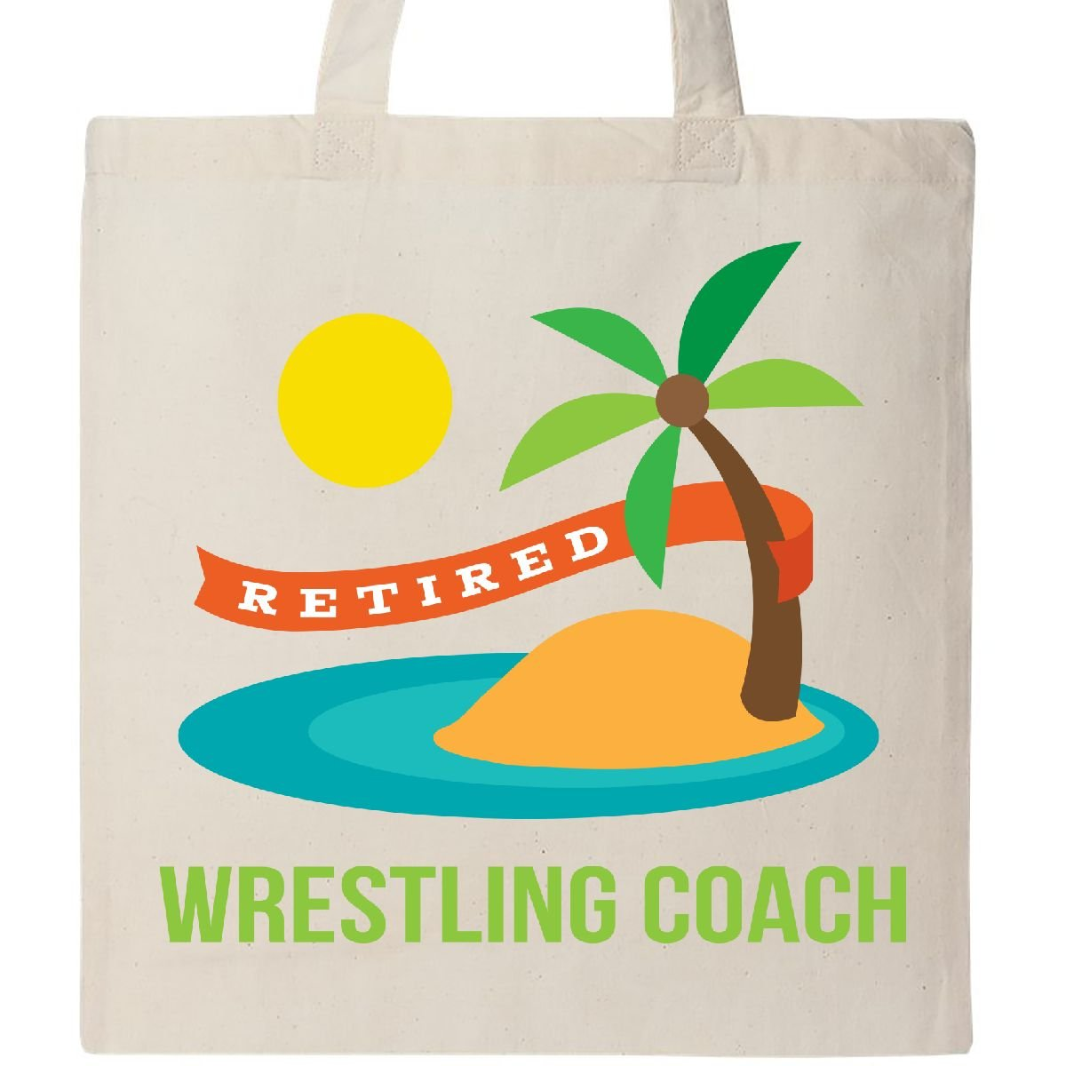 Inktastic - Retired Wrestling coach Tote Bag Natural 1d9f4