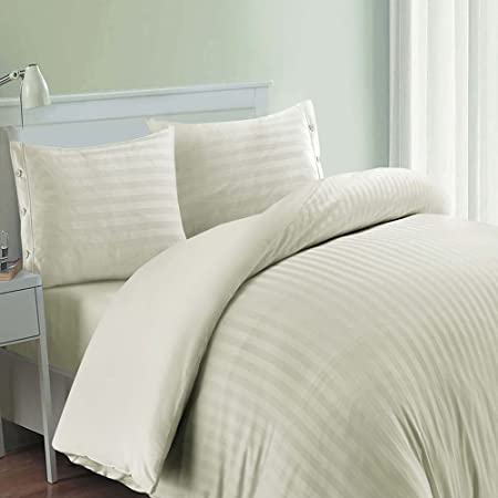 Cama de lujo Calidad de Hotel edredón de algodón egipcio 600 hilos con libre fundas de almohada, crema, matrimonio: Amazon.es: Hogar