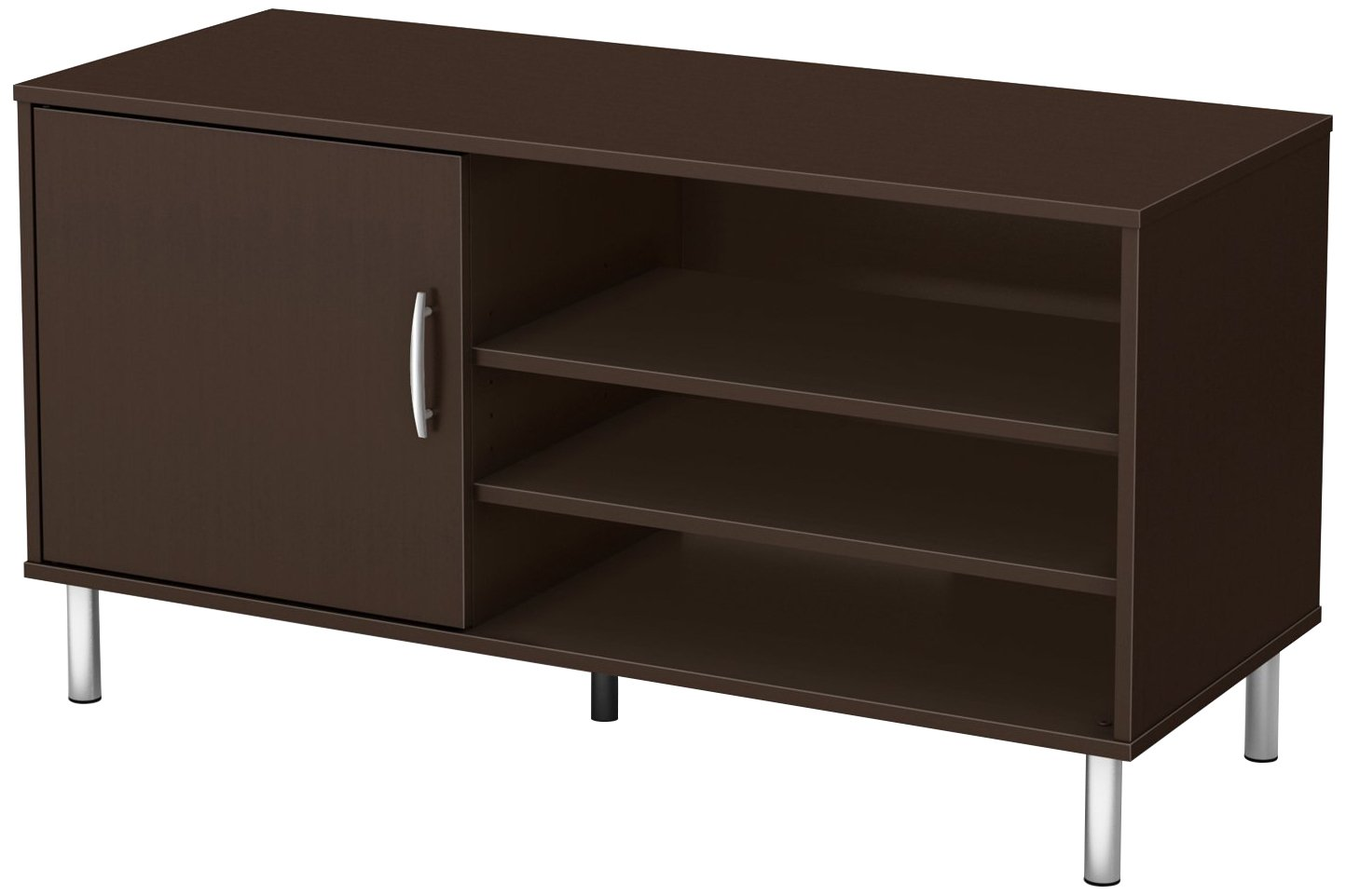 South Shore Renta TV Stand - Fits TVs Up to 48'' Wide - Chocolate - by South Shore