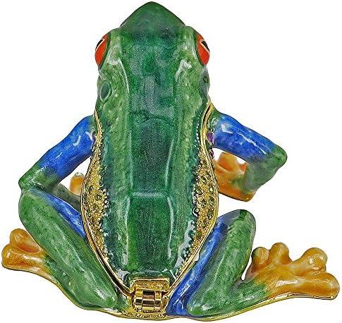 RUCINNI Tree Frog Jeweled Trinket Box