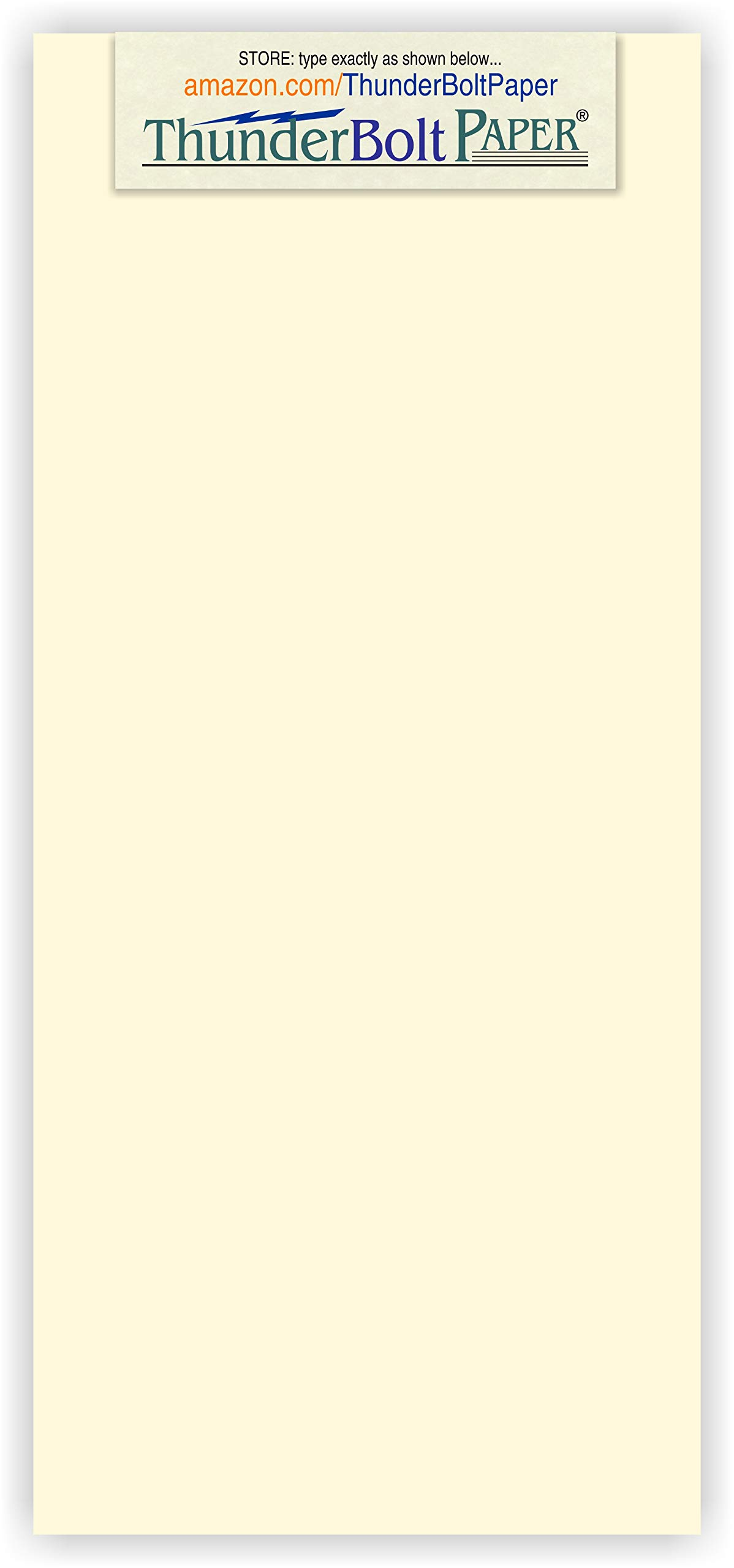 1000 Natural Smooth Card Stock Sheets Paper - 4'' X 9'' (4X9 Inches) #10 Envelope Insert Size - 80# (80 lb/Pound) Cover Weight - Quality Paper - Smooth Finish by ThunderBolt Paper