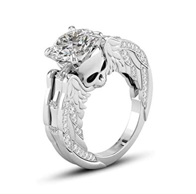 Amazon Com Napoo Rings Clearance Creative Valentine Gift Ring Skull
