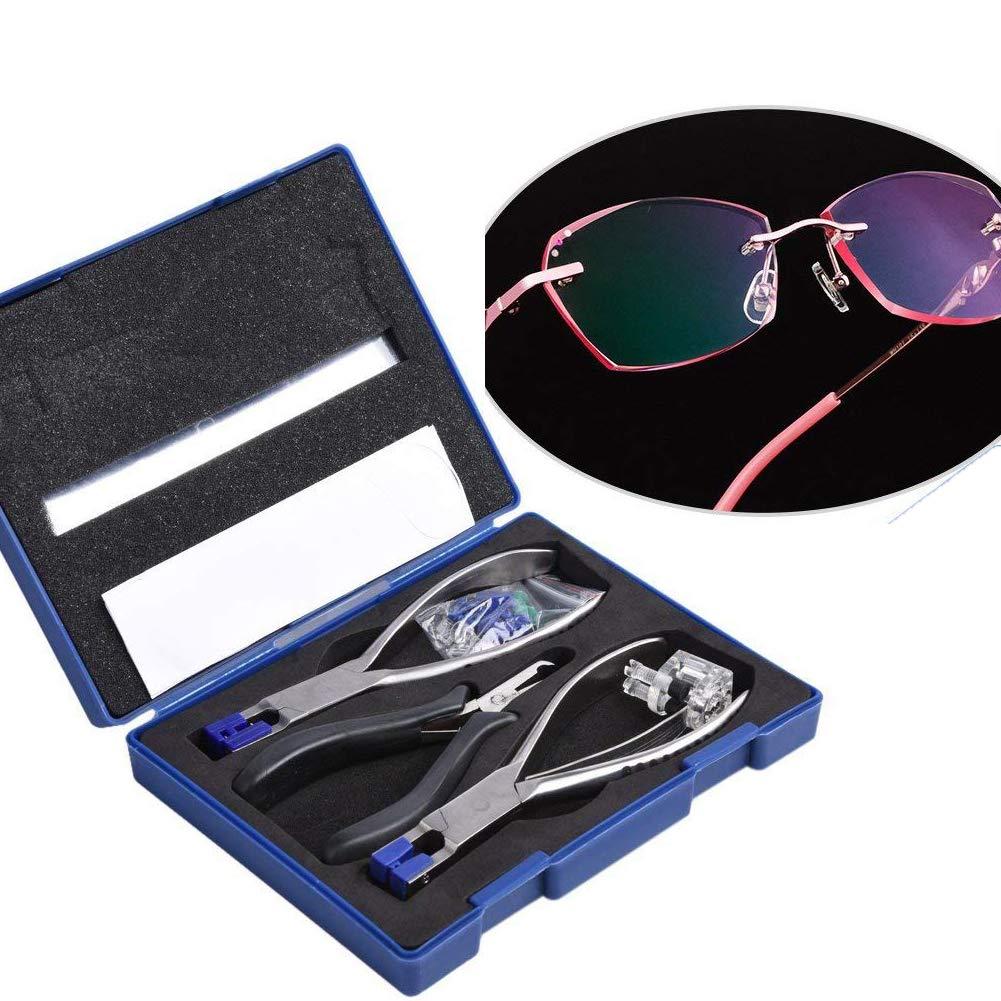 Rimless Glasses Frame Silhouettes Eyeglass Optical Kit Plier Repair Disassembly Tool,Eyeglasses Repair Set