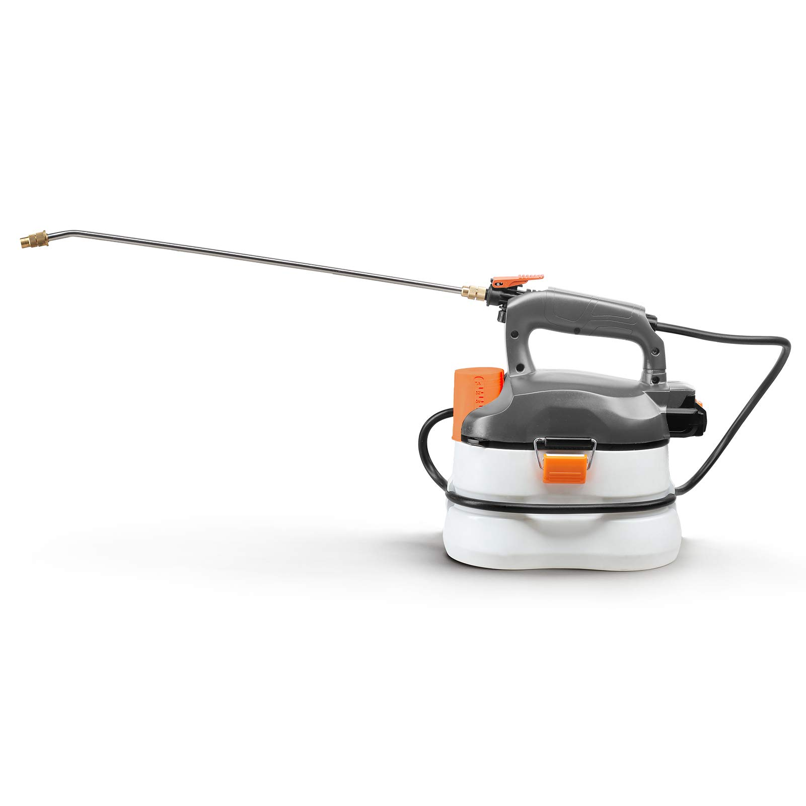 UKOKE U04GS Cordless Electric Power Garden Sprayer, 1 Gallon Tank Portable Handhel, 45 psi & 0.132 GPM (500ml per min), Grey & White 20V 2A Battery & Charger Included by UKOKE