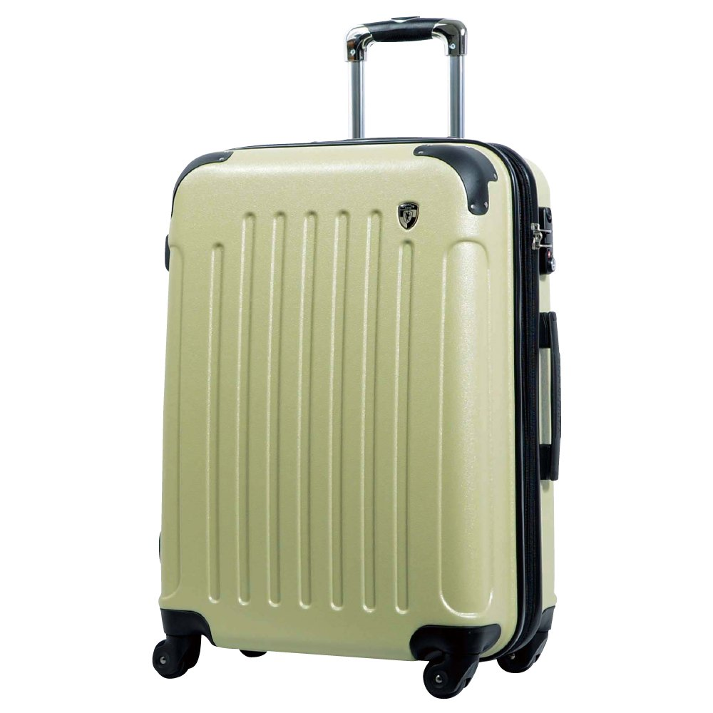[グリフィンランド]_Griffinland TSAロック搭載 スーツケース 超軽量 マット加工 newFK10371 ファスナー開閉式 B078BFS3SB M(中)型 +【名前刻印】|抹茶クリーム 抹茶クリーム M(中)型 +【名前刻印】