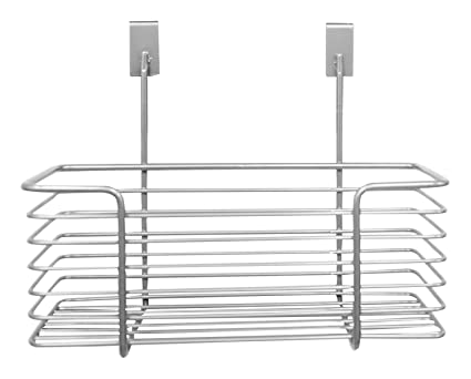 amazon com home basics over the cabinet basket organizer small rh amazon com over cabinet wastebasket over the cabinet basket bathroom