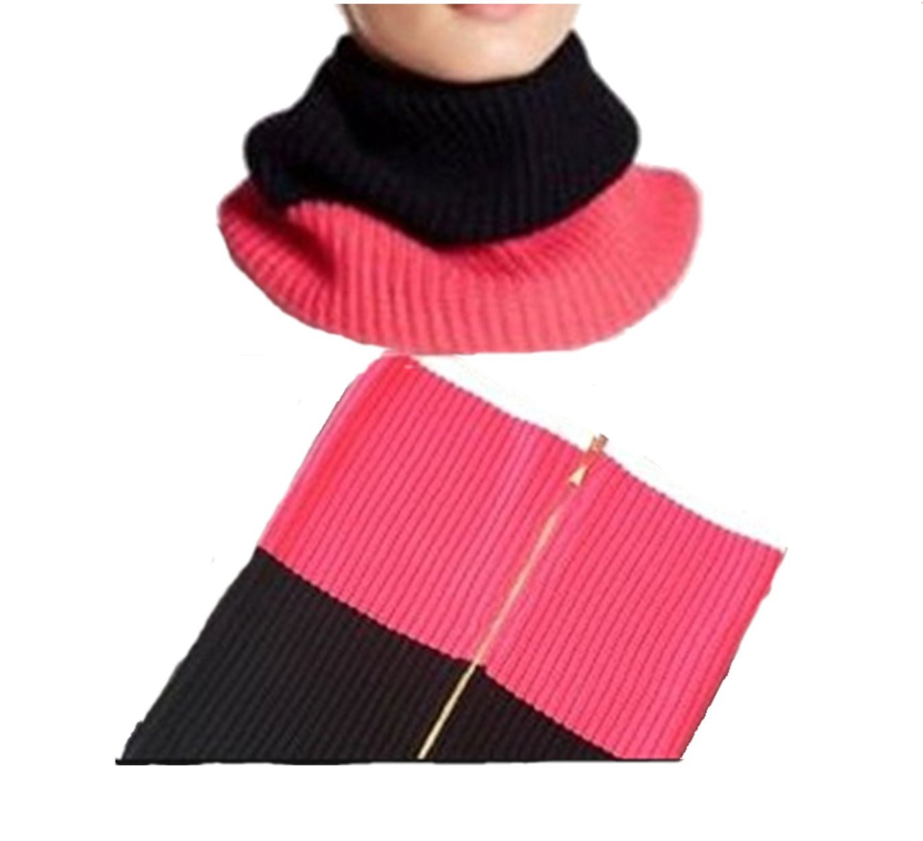 Kate Spade Zip Up Neck Warmer, Sweetheart Pink/Black