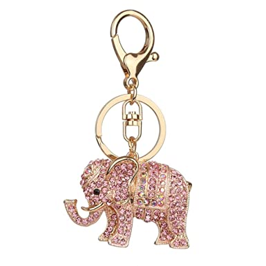 Women Gift Ornament Rhinestone Handbag Pendant Key Ring Key Holder Key Chain