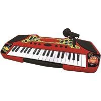 Cars Teclado con Micrófono, Instrumento Piano Infantil (Lexibook K710DC)