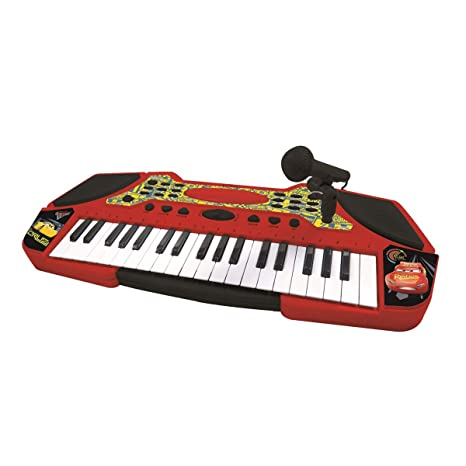Cars Teclado con Micrófono, Instrumento Piano Infantil Lexibook K710DC