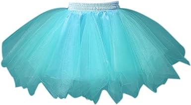FEOYA Niñas Falda de Tul Tutú Clásica de Ballet para Disfraz ...