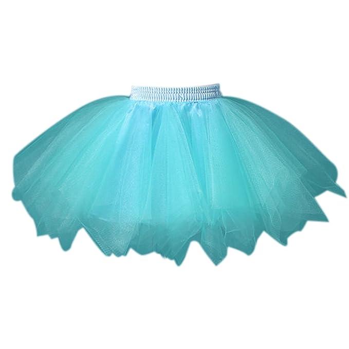 6722b4b558 Feoya Niñas Falda de Tul Tutú Clásica de Ballet para Disfraz Halloween  Fiesta